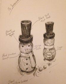 snowman-sketch