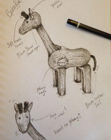 giraffe-sketch